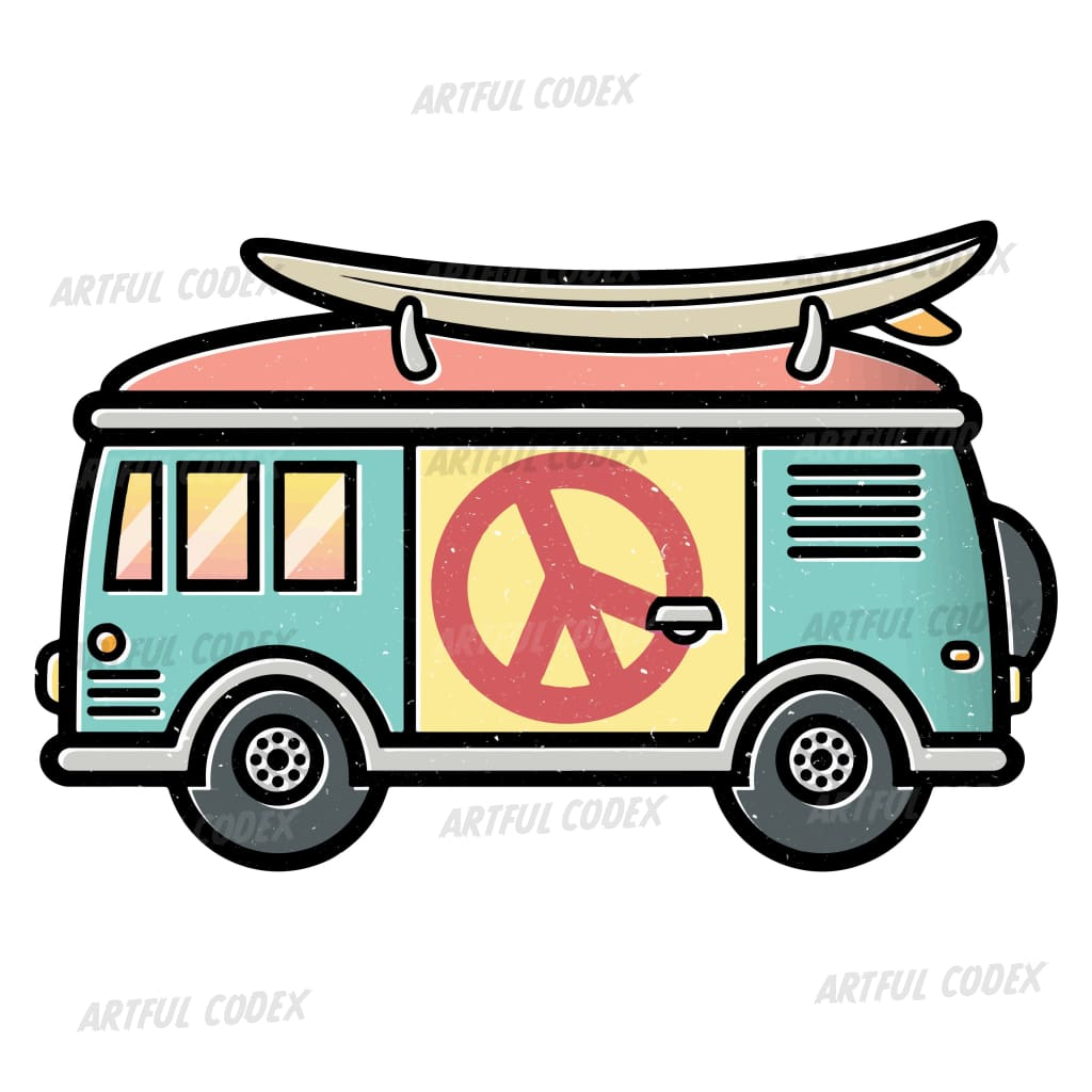 Hippie Van Illustration