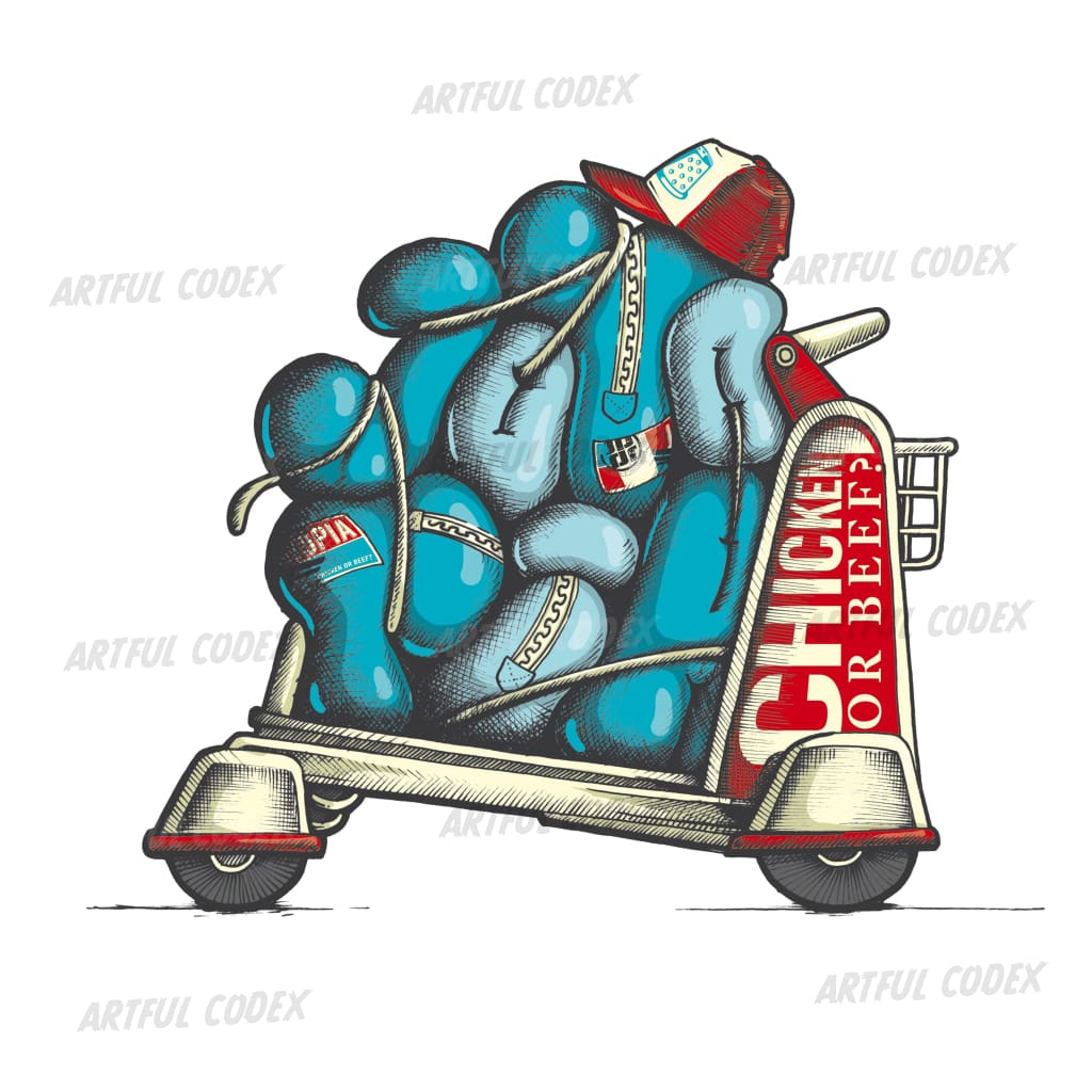 Luggage Cart Illustration