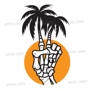 Palm Peace Illustration