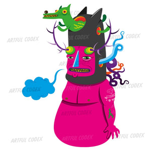 Pink Monster Illustration