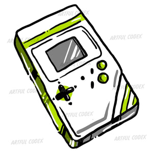 Portable Video Game Illustration