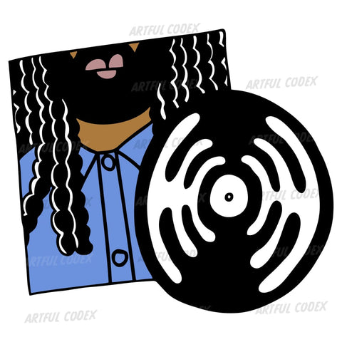 Rasta Vinyl Illustration