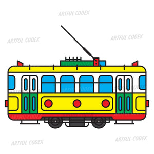 Retro Tram Illustration