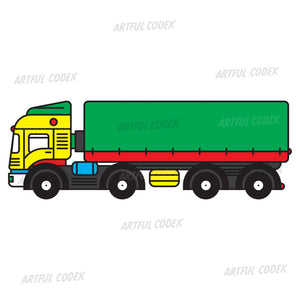 Trailer Truck Illustration