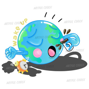 Wake Up Planet Earth Illustration