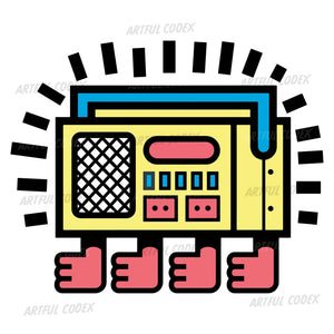 Yellow Stereo Illustration