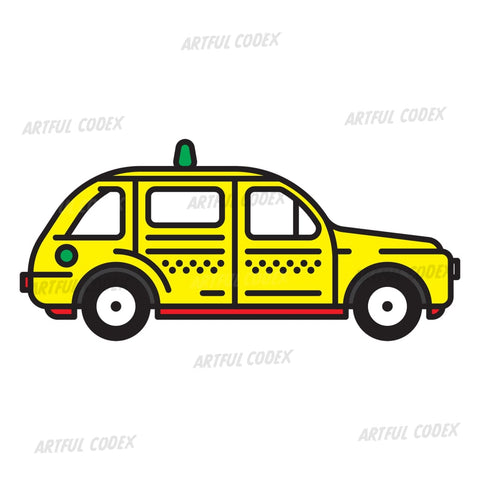 Yellow Taxi Illustration
