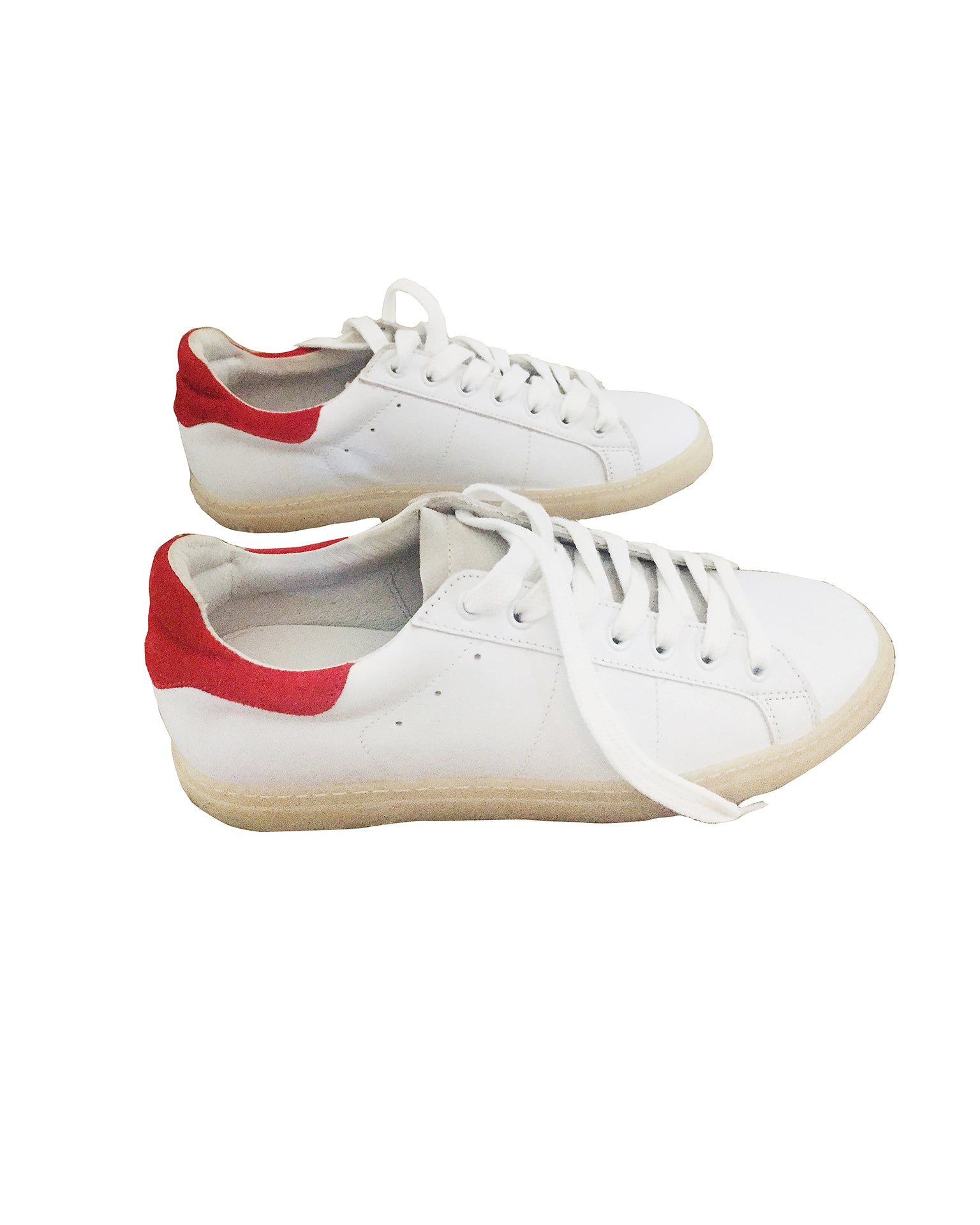 Sandro White Leather Sneakers