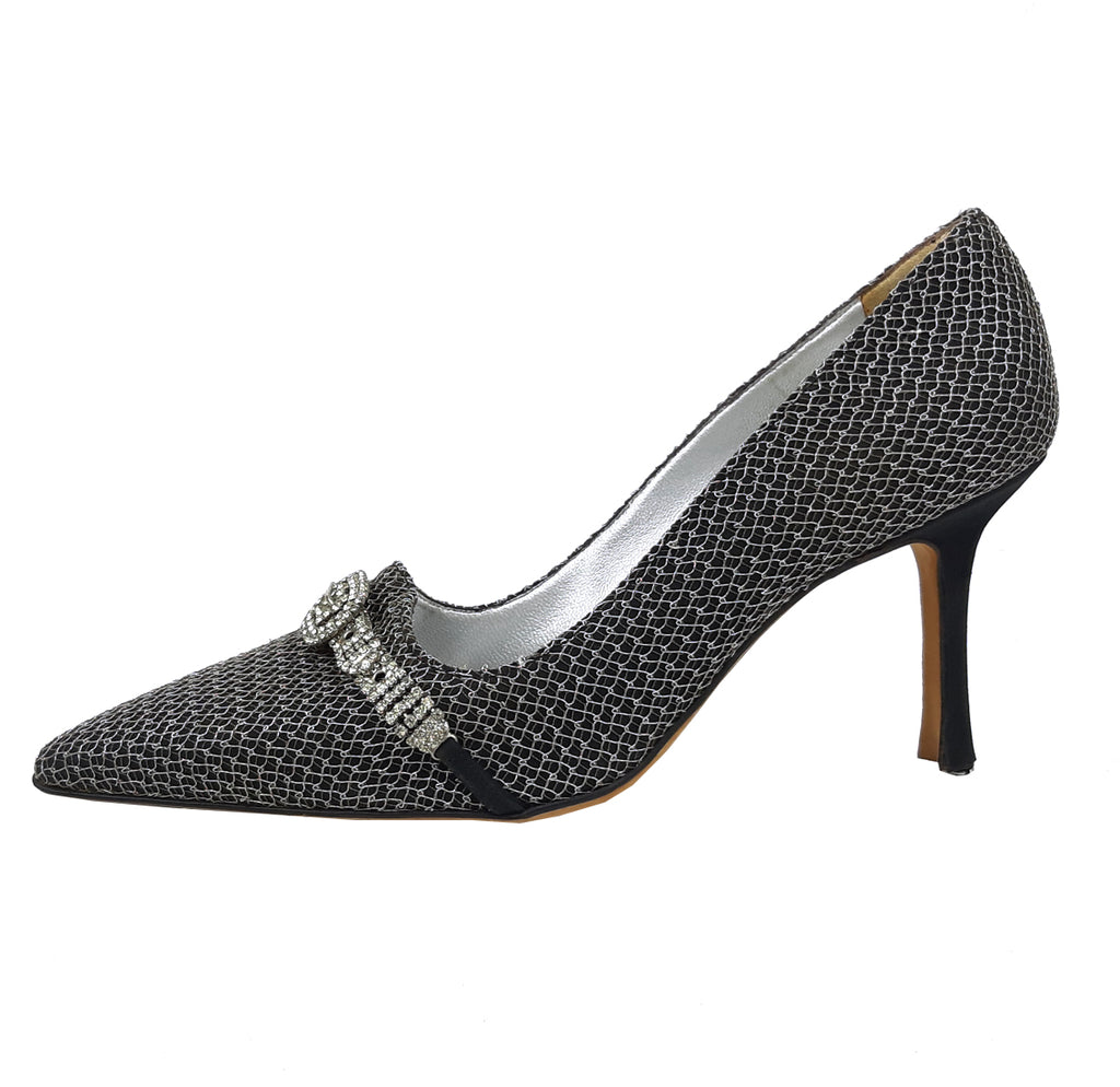 Manolo Blahnik Metallic Mesh and Rhinestones Buckle Size 36,5 (EU)