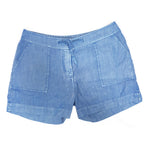 Escales Fluid Shorts in Light Blue with Adjustable Waist in Size L
