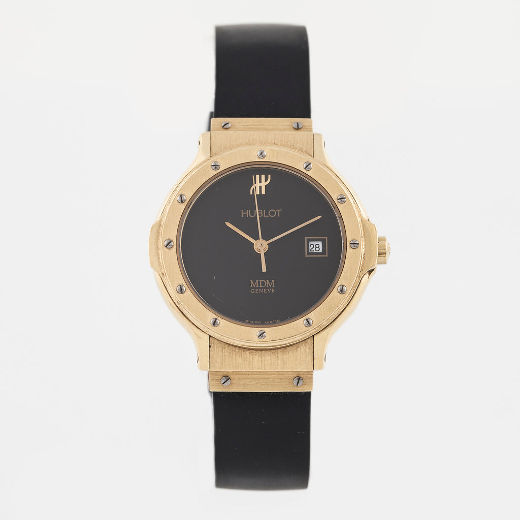 HUBLOT MDM Genève Classic Black and Gold Watch