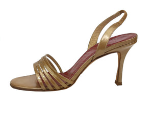 Jimmy Choo Bronze Slingback Sandals Size 37 (EU)