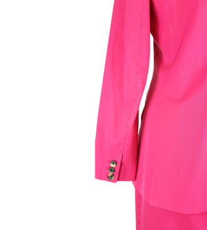 YVES SAINT LAURENT Rive Gauche Pink Suit Blazer and Skirt with Stitch Detail Size 36 (EU) 40 (IT)