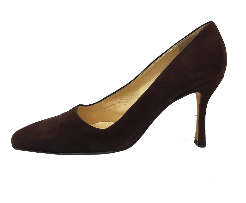 Jimmy Choo Suede Brown Heeled Shoes Size 37 (EU)