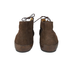 Louis Vuitton Brown Suede Flat Ankle Boots Size 37,5 (EU)