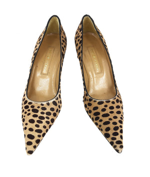 Sergio Rossi Pony Style Animal Print Mid Heeled Shoes Size 37 (EU)
