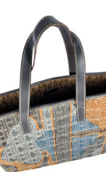 Carolina Herrera Tote Handbag in Monogram Leather