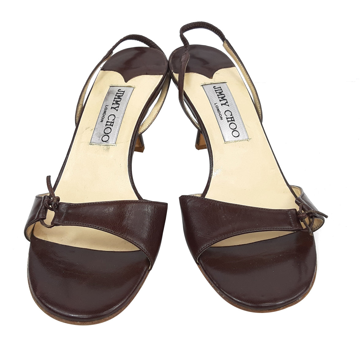 Jimmy Choo Leather Sandals in Brown Size 36,5 (EU)