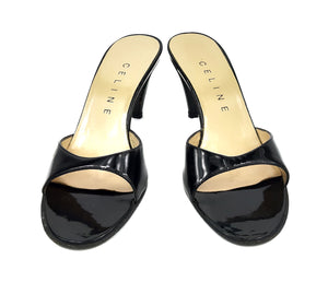 Celine Black Mules in Patent Leather Size 37,5 (EU)