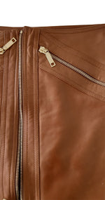 Celine Camel Leather Skirt Size 40 (EU)