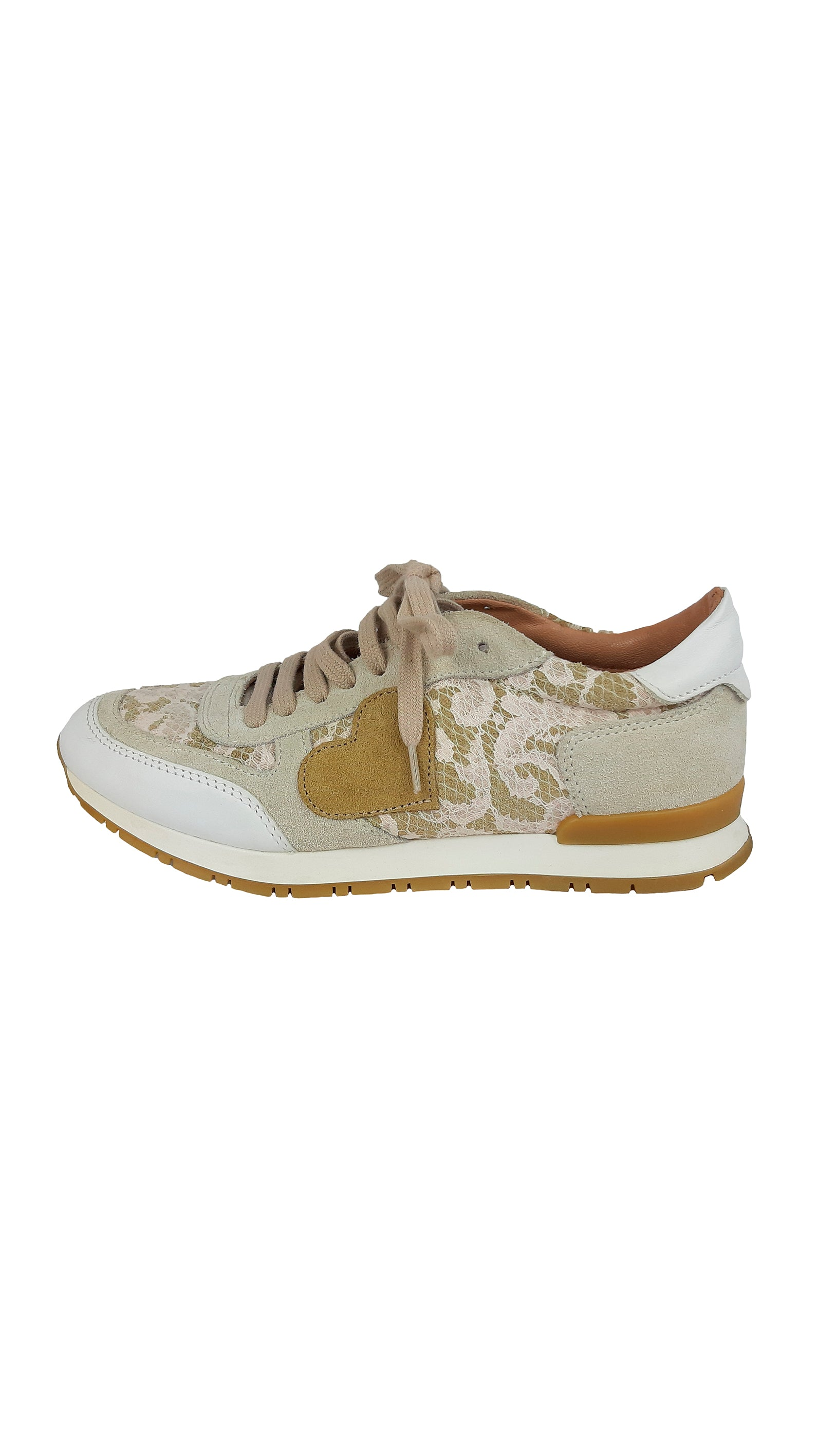 Twin Set By Simona Barbieri Beige Suede and Phyton Sneakers Size 36 (EU)