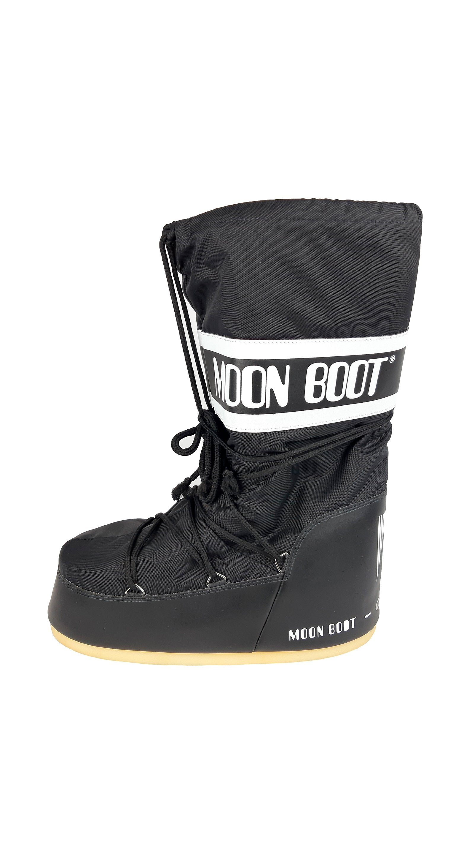 Moon Boots Snow Boots in Black and White Size 45/47