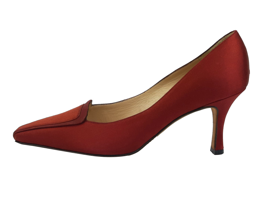 Manolo Blahnik Bordeaux Pointed Heels Size 37 (EU)