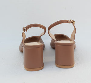Manuel Alves Nude Slingback Shoes Size 38 (EU)