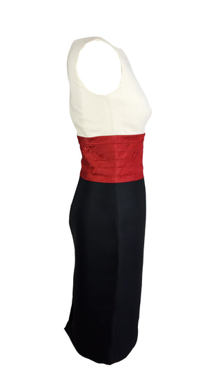 Dsquared2 Colour Block Ceremony Dress Size 40 (IT)