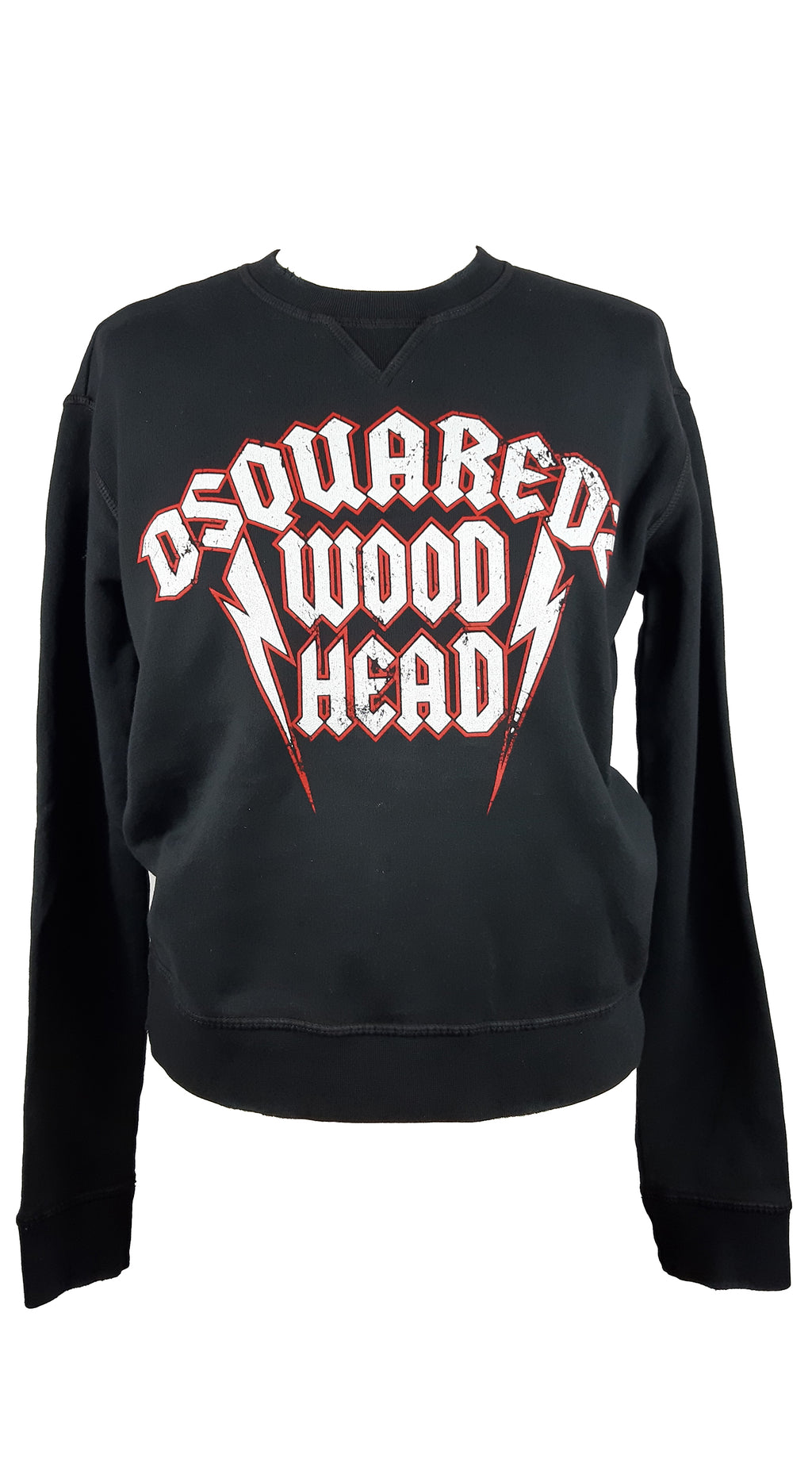 Dsquared2 Black Sweatshirt with White and Red Letters Size XS (INT)