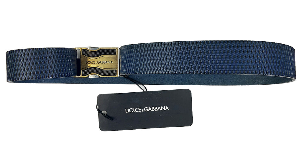 Dolce & Gabbana Belt in Grey with Side Release Buckle Size 70 cm