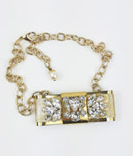 Dolce & Gabbana Golden Bow Necklace with Rhinestones