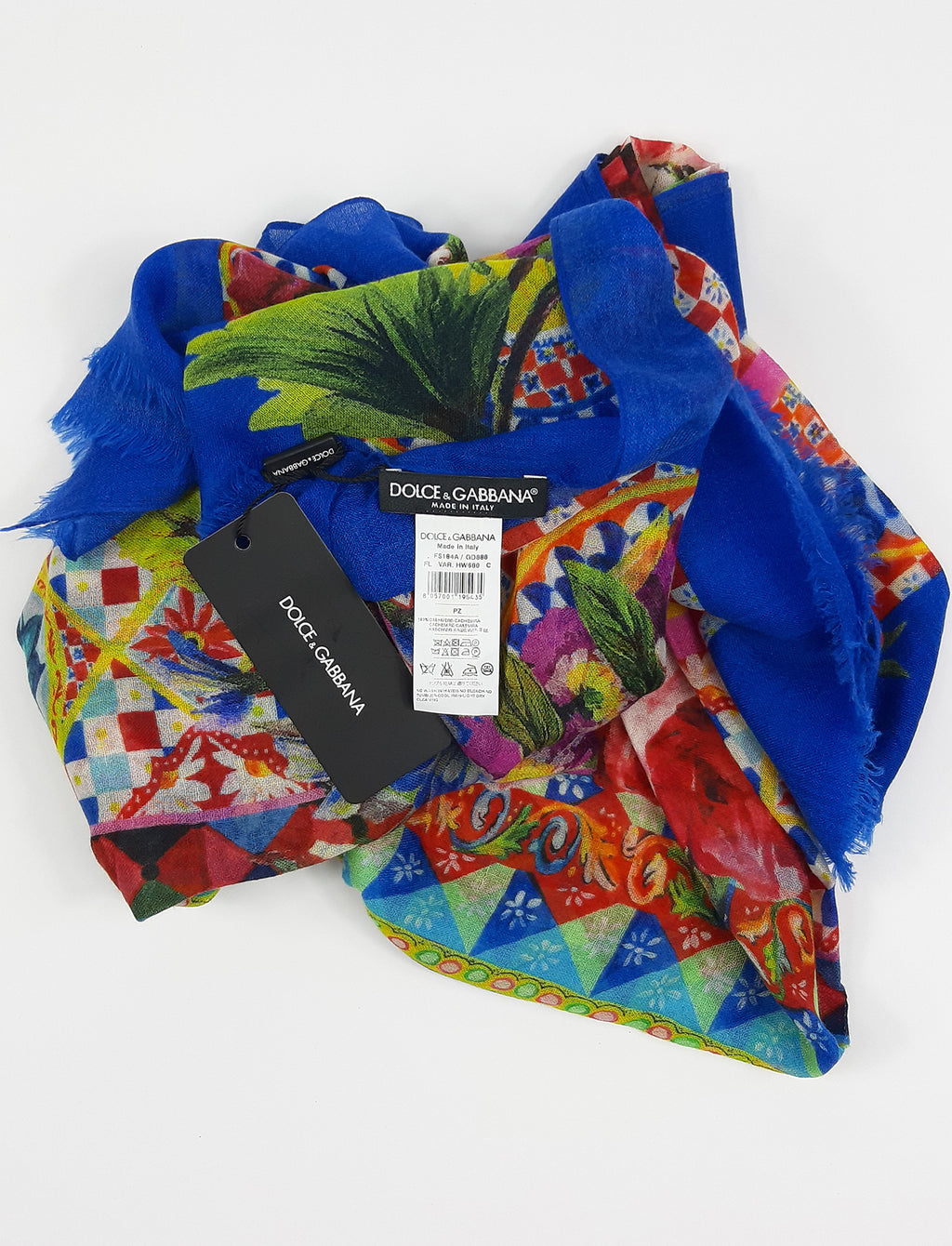 Dolce & Gabbana Silk Scarf in Blues