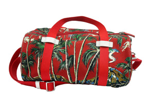 Dolce & Gabbana Red and Palm Trees Travel Bag in Canvas