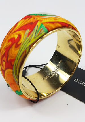 Dolce & Gabbana Multicolour Bracelet with Golden Interior