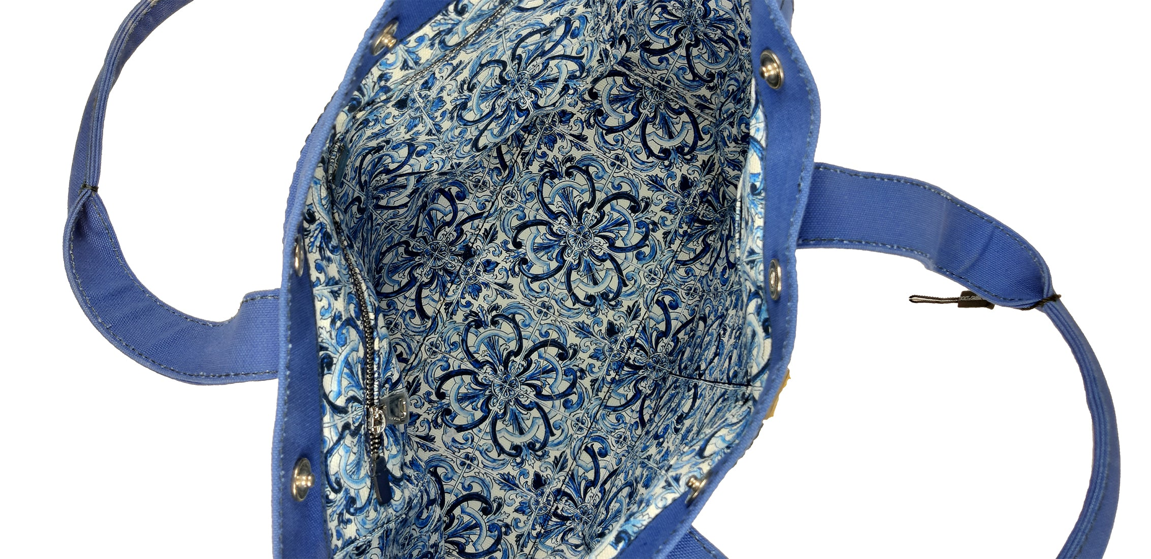 Dolce & Gabbana Blue Tote Bag in Canvas