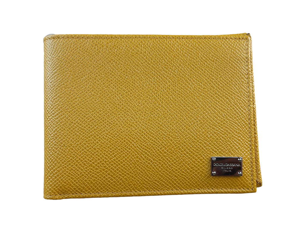 Dolce & Gabbana Wallet in Yellow Leather