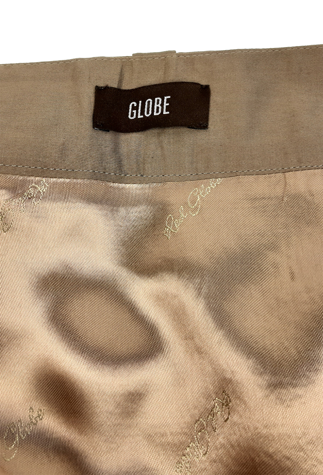 Globe Khaki Safari Skirt with Front Zip and Front Pockets Size 38(EU)