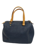 Carolina Herrera Medium Andy 7 Bowling Bag in Nogal Leather with Carolina's Initials