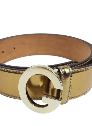 Gucci Golden Belt with G Buckle Size 90 cm