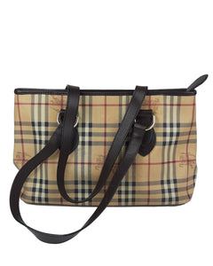 Burberry Vintage Nova Check Leather Shoulder Bag