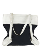 Burberry Black and White Shoulder Bag in Cloth and Leather