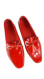 Bally Red Patent Leather Loafers size 39 (EU)