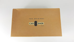 Car Shoe Brown Suede Heeled Loafers with Golden Buckle Detail Size 40 (EU)