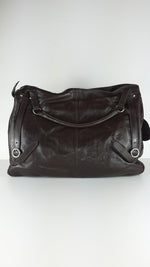 Furla Brown Leather Bag with Fur in the Front