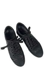 Louis Vuitton Leather Black and Brown Low Top Monogram Sneakers Size 38 (EU)