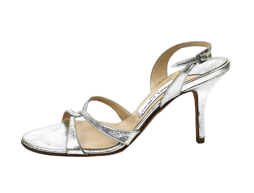 Jimmy Choo Golden Leather Sandals Size 38 (EU)