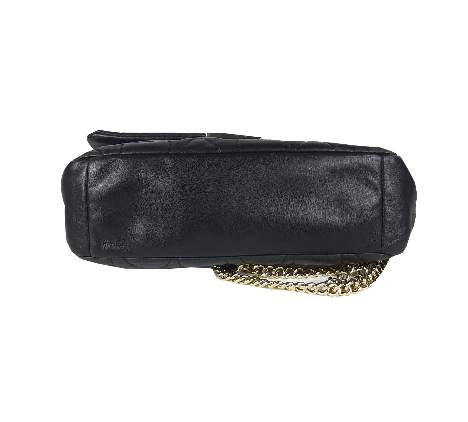Adolfo Dominguez Crossbody Bag with Gold Hardware