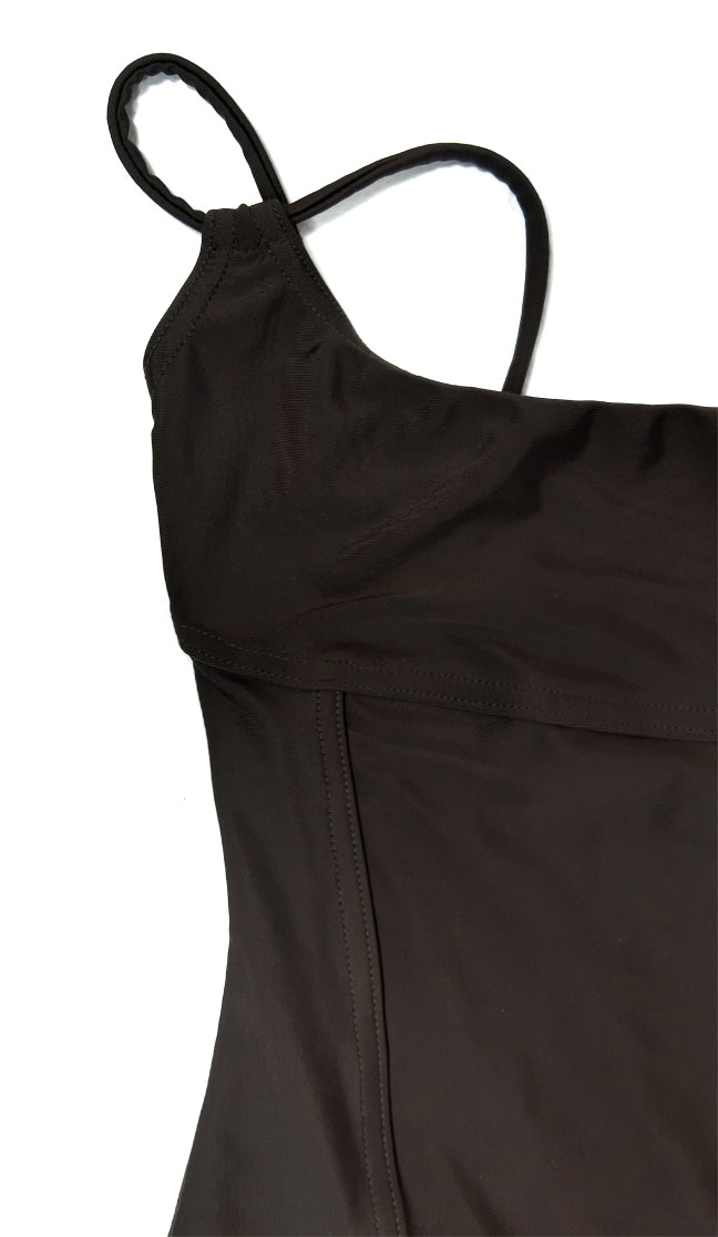 Liza Bruce Swimsuit in Brown With Douple Strap in Size S