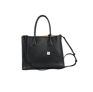 Michael Kors Black Tote Handbag with Hard Quality Leather and Long Shoulder Strap